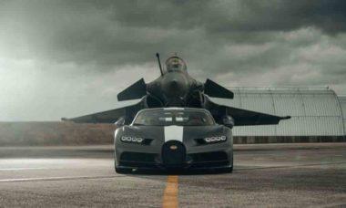 Dassault Rafale aposta corrida com um Bugatti Chiron; confira o vídeo. Foto: Divulgação