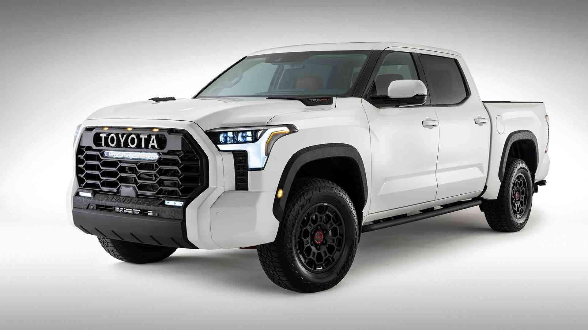 Toyota revela primeira foto oficial da nova picape Tundra 2022. Foto: Reprodução Twitter