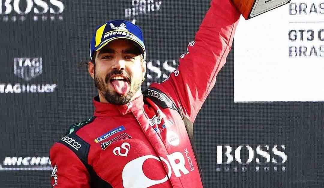 Caio Castro garante primeiro pódio na Porsche Cup na segunda corrida. Foto: Reprodução Instagram