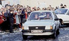Ford Escort 1981 da Princesa Diana. Fotos: Divulgação
